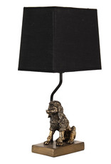 Gold poodle table lamp