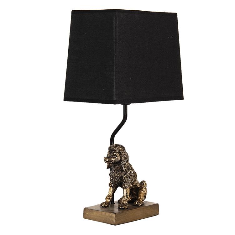Gouden poedel tafellamp