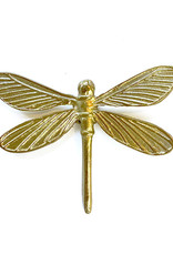 Gold dragonfly wall decoration