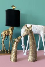 Gouden giraffe duo beeldjes