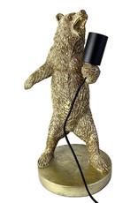 Gouden beer tafellamp
