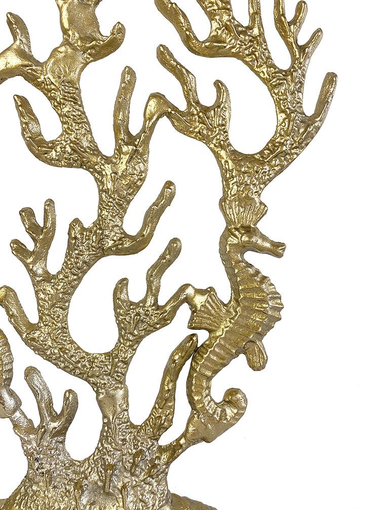 Gouden koraal tafeldecoratie