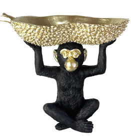 Monkey with bowl decoration - S