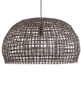 Rotan hanglamp - Bruin