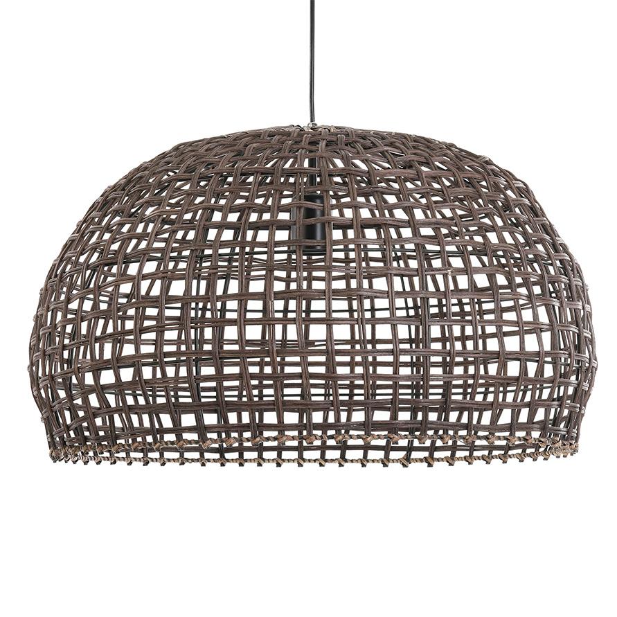 Grote rotan houten design hanglamp