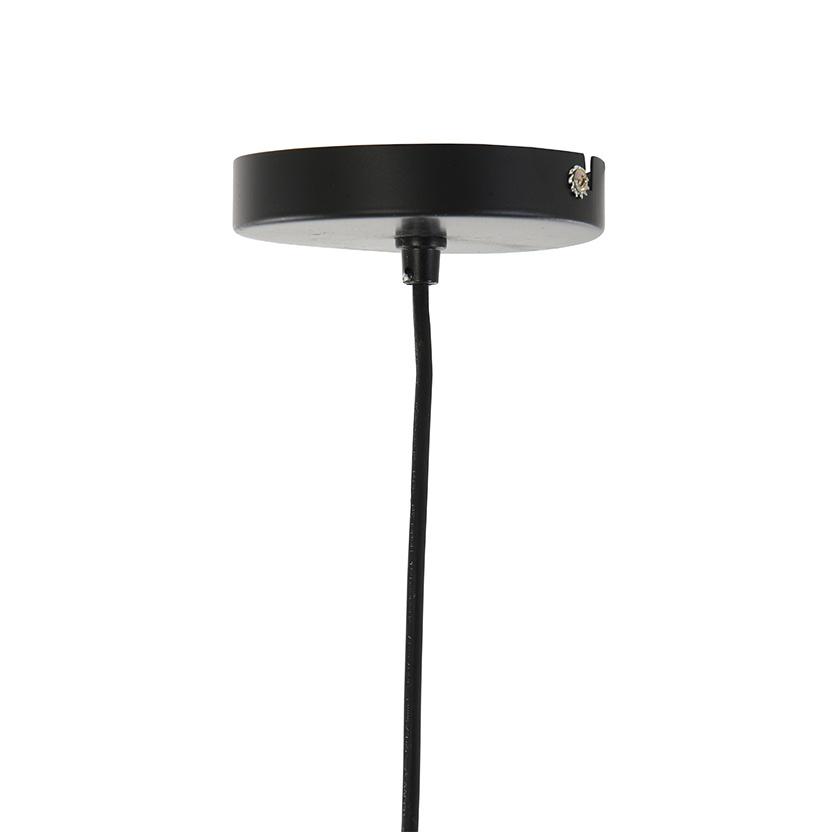 Zwart rotan houten design hanglamp