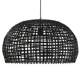 Rotan hanglamp - Zwart