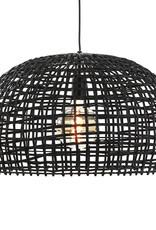 Large black rattan wood lamp