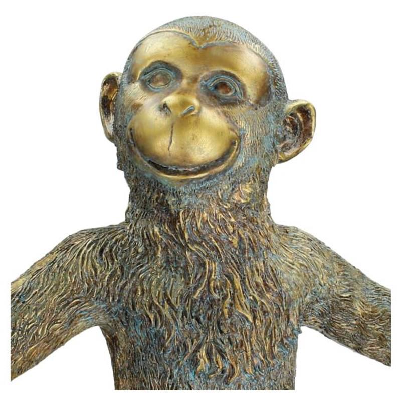 XL gold monkey candlestick