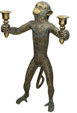 XL gouden aap kandelaar