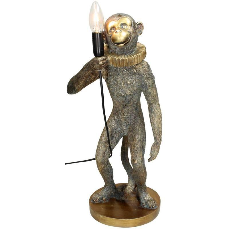 Gouden circus aap tafellamp