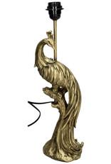 Gouden pauw tafellamp