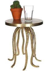 Gouden octopus bijzettafel