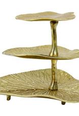 Luxury gold leaves étagère
