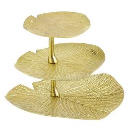 Gold leaves étagère