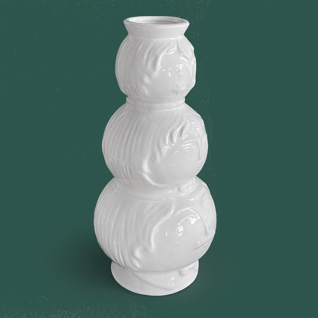 Design vaas met gezichten
