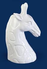 Witte giraffe vaas van keramiek