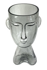 Modern glass head vase