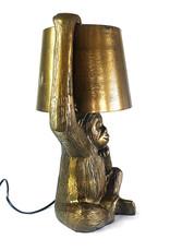 Gold metal monkey table light
