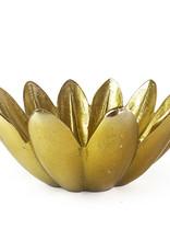Gold flower shaped fruit bowl
