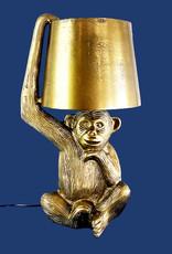 Gouden aap tafellamp van metaal