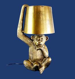 Gold monkey lamp