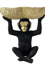 Monkey with bowl home decoration