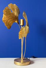 Gouden ginko bladeren tafellamp