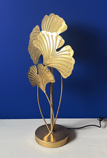 Gold ginkgo leaves table lamp