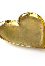 Gold metal heart plate or dish