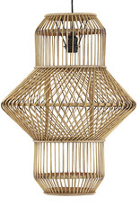 High bamboo and rattan wood suspension lamp
