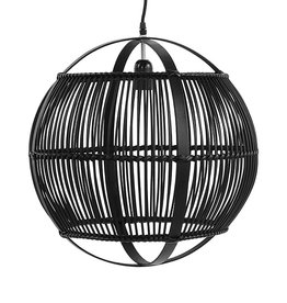 Zwarte bamboe lamp - M