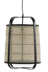 Linen fabric and bamboo wood lamp
