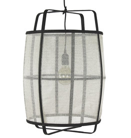 Wit linnen hanglamp - L