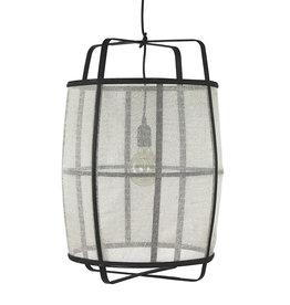 White linen lamp - S