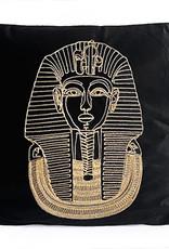 Black velvet with gold pharaoh cushion