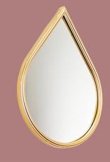 Gold metal drop mirror