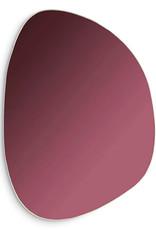 Design spiegel van paars glas