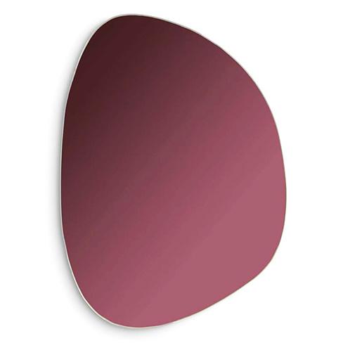Purple pebble shaped glass mirror