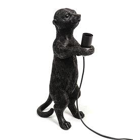 Stokstaart tafellamp - Zwart