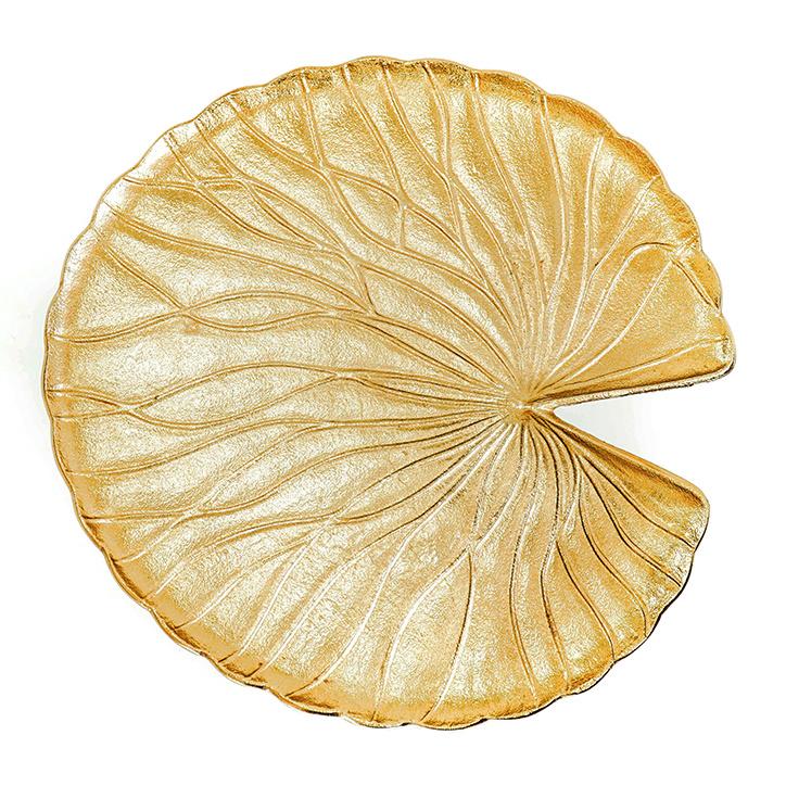 Gouden waterlelie blad bijzettafeltje