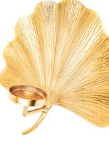 Gouden ginkgo blad wandkandelaar