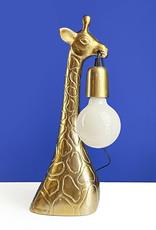 Gouden giraffe dierenkop tafellamp