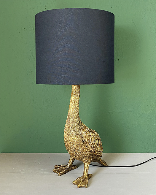 Design tafellamp in de vorm van een gans