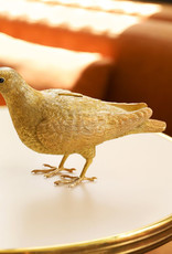 Gold pigeon coin bank or decoration figure.