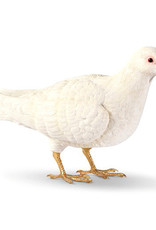 White and gold pigeon coin bank or decoration figure.