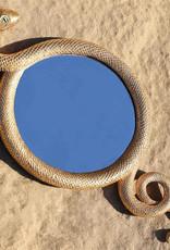 Gold snake mirror