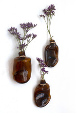 Brown glass wall vase