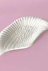 Small white wing shaped plate