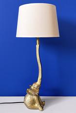 Gouden olifant tafellamp